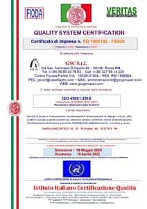 GSC Servizi certificazione ISO 45001 ed. 2018 - migrazione da OHSAS 18001 ed. 2007